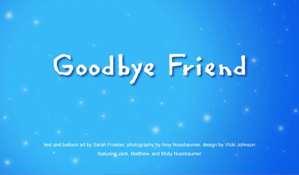 Goodbye My Dear Friend...